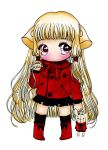 Red and Black chibi Girl by happychatter