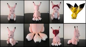 Pink Keaton plushie V3 from Zelda by Miss-Zeldette