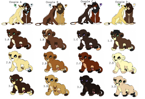 Lion Newborn Cub Adoptables -CLOSED- by sjsaberfan