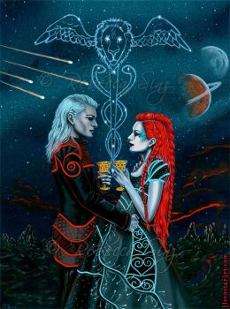 2 of Cups by ElvenstarArt