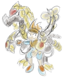 Kommo-o With Trainer (Colored) by CenrjisRebirth