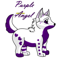 Purple Angel (as a puppy) by Shikumeka