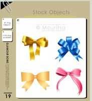 Object Pack - Glamour Bows by MouritsaDA-Stock