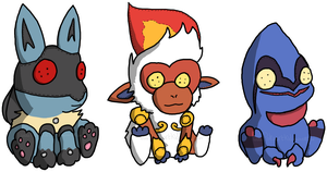 Random Doom Dolls by PokeartKid