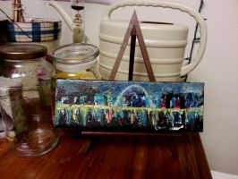 St. Louis palette knife oil painting #2 by LaShink