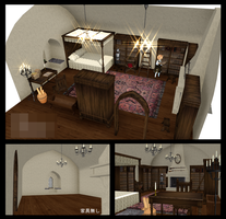 . : DL SERIES :. Stucco wall room v1.4 by NightLightStar01