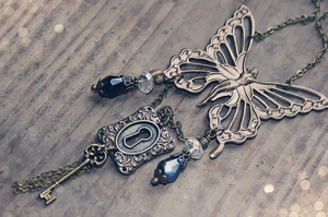 Bronze Fairy Lock and Key by MythicalFolk