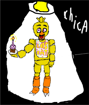 FNAF CHICA THE CHICKEN           LETS EAT!!! by fizzysodagamer