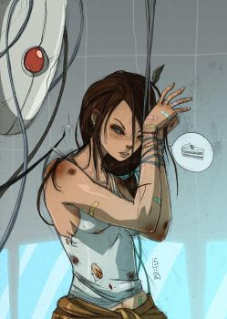chell by lemon5ky