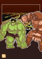 Hulk vs Juggernaut by NicolasViig