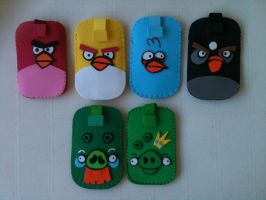 Angry Birds Colection Mobile Cases by anapeig