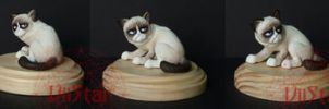 Tartar Sauce - Tard the Grumpy Cat OOAK by VIIStar