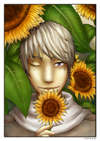 Ivan and the sunflowers by fliff