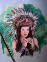 Red Indian by abir00