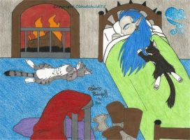 Missy and Bonnie in Magus' personal chamber by MaguschildCloud