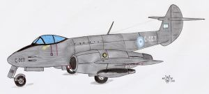Gloster Meteor F. Mk 4 FAA by DingoPatagonico