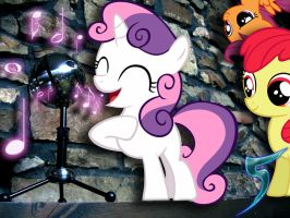 The CMCs admire Sweetie Belle's voice by TabbyDerp