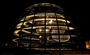 Reichstag Dome at Night by pingallery
