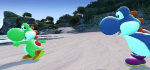 2 Yoshis at the Beach by Cordometer