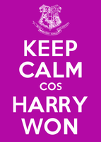 Keep Calm cos Harry Won by Scrabblicious