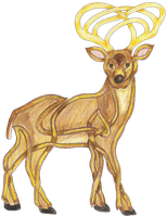 Celtic Stag Statant by KnotYourWorld