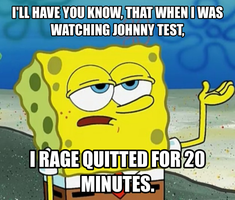 Spongebob Meme #1: Johnny Test by thekirbykrisis
