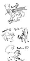 Moar Mythological Creatures by LaughingSkeleton