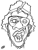 Trinidad James Caricature by IkeDaArtist