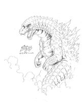 Another Legendary Godzilla Sketch by Onore-Otaku