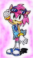 Amy rose in blue dress by BlackBy