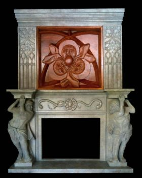 Fire place unit sculpt by TimBakerFX