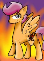 Scootaloo: the flaming butterfly by voidless-rogue