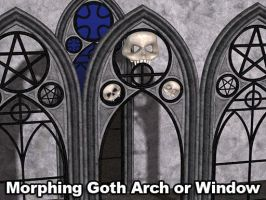 Morphing GothArch Window Poser by parrotdolphin