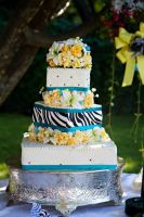 Wedding Cake Zebra Print by katiesparrow1