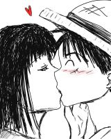 Kissy --LuffyxRobin by straw-hat