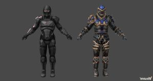 Shepard Default with Helmet and Reckoner Armor wit by nach77