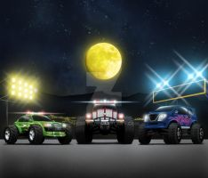 Monster Cars by ferryo