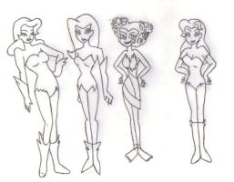 Different Styles of Poison Ivy by KessieLou