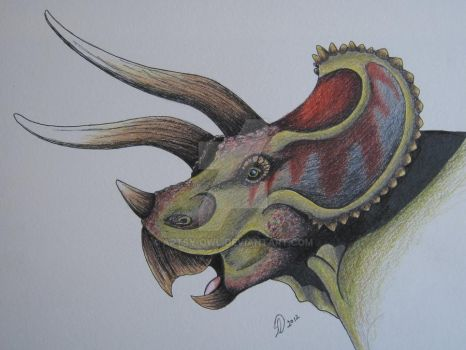 Triceratops by artsy-owl