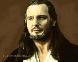 Qui Gon by vampirekingdom