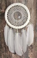 The White Butterfly Dreamcatcher by Ailinn-Lein