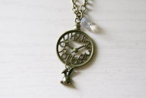 White Rabbits Watch - Necklace by foowahu-etsy