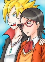 Bolt and Sarada by Ray-D-Sauce