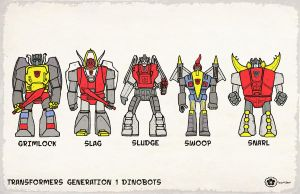 Generation 1 Dinobots by Hartter