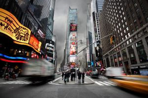 Times square rush by billysphoto