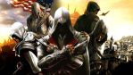 Assassin's Creed Ezio, Connor and Altair by DeathHuntress