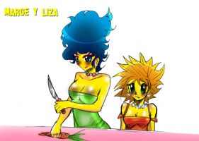 Marge Y Liza colorin by kiokusanagui