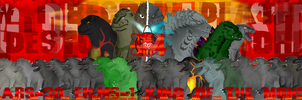 King Of The Monsters 60 Years (1954-2014) by randomcharacterspace