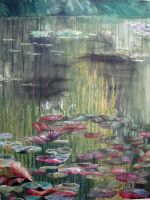 Final Lily pad painting by what-a-smile