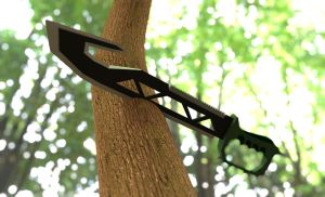Kanine1134 Tactical Machete by fear-is-spreading